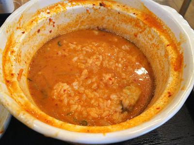 牡蠣カレー煮込みうどん 雑炊