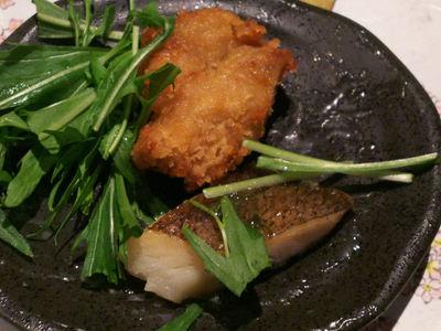 唐揚げと魚