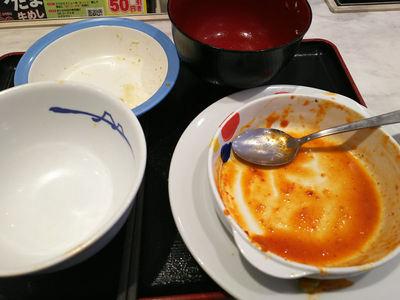 チーズダッカルビ定食 完食
