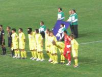 試合前の選手整列