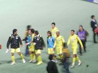 試合後の選手たち