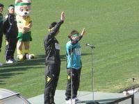 岡本、深井両キャプテンの選手宣誓