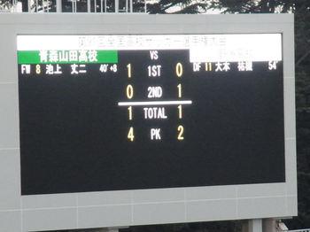 青森山田 1-1 (PK 4-2) 野洲