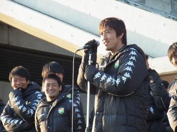 トップチームまつり 谷澤の挨拶