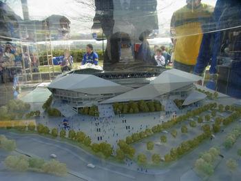 新スタジアムの模型