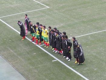 試合終了後に挨拶にきた選手たち