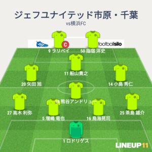 vs横浜FC 先発メンバー