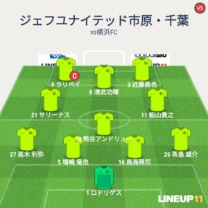 vs横浜FC 試合終了間際のメンバー