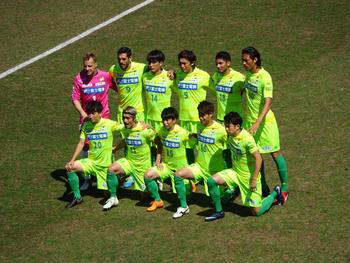 試合前の記念撮影。