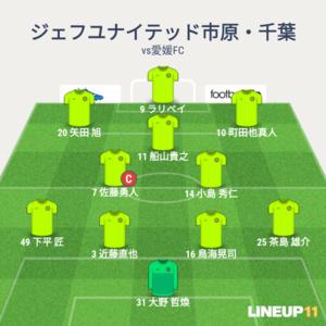 vs愛媛FC 先発メンバー