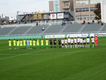 試合後の整列。