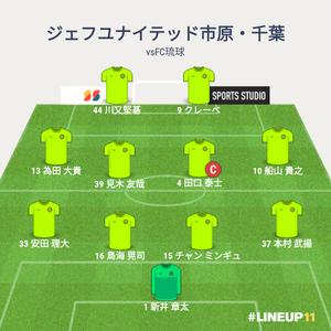 vsFC琉球 先発メンバー