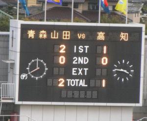 青森山田 2-1 高知