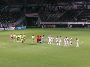 試合後の整列