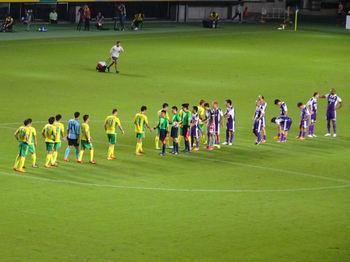 試合後の握手