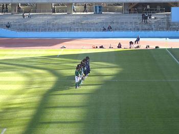 試合前の整列