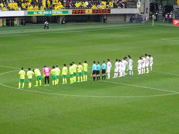 試合終了後の整列